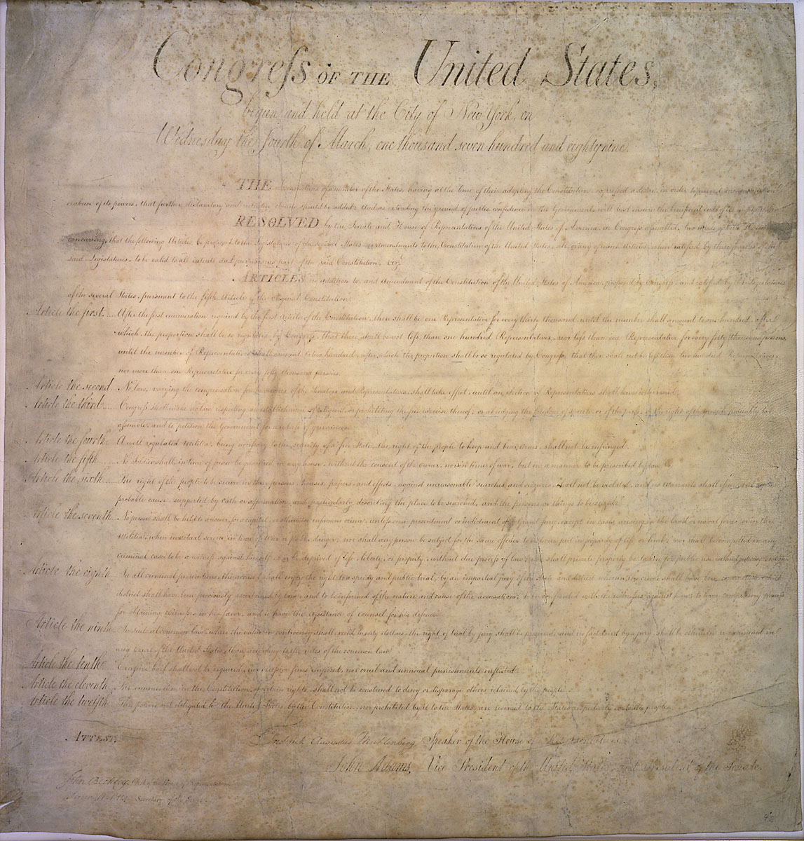 an analysis of the first amendment of the american constitution United states constitution: the first ten amendments to the us constitution  center for the study of the american constitution.